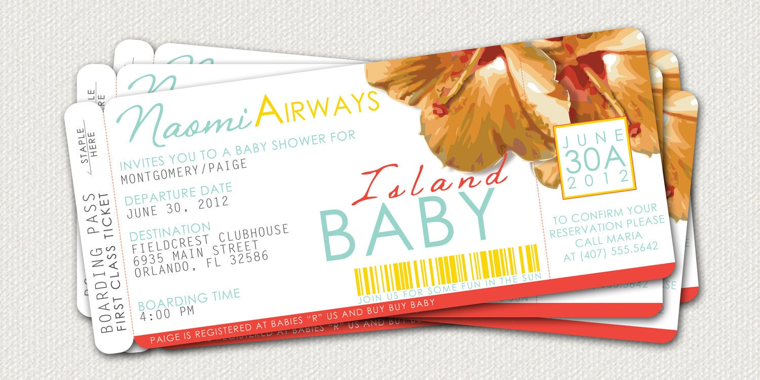 boarding pass baby shower invitation by leitsispieces on etsy