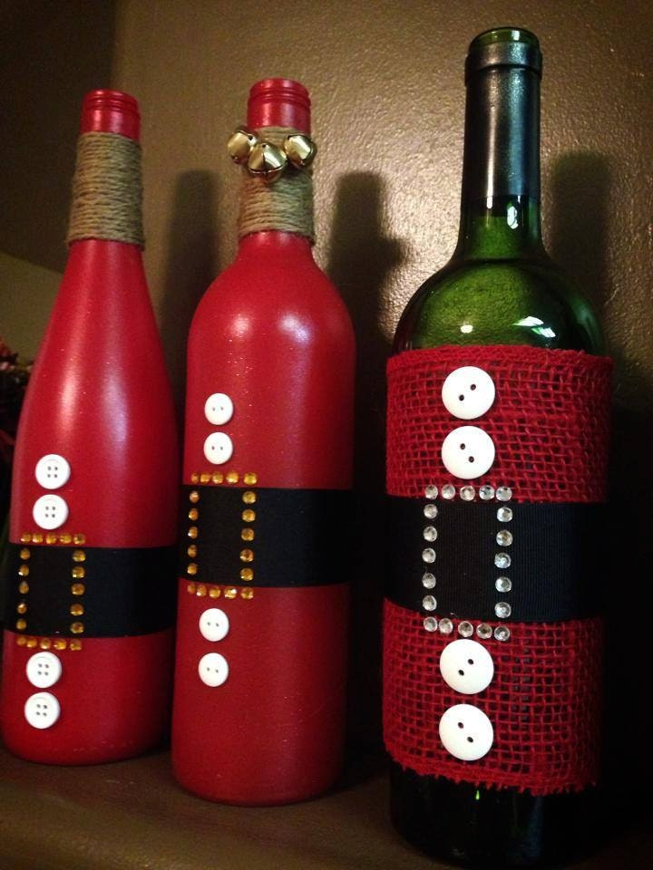 Items Similar To Santa Clause Wine Bottle For Holiday