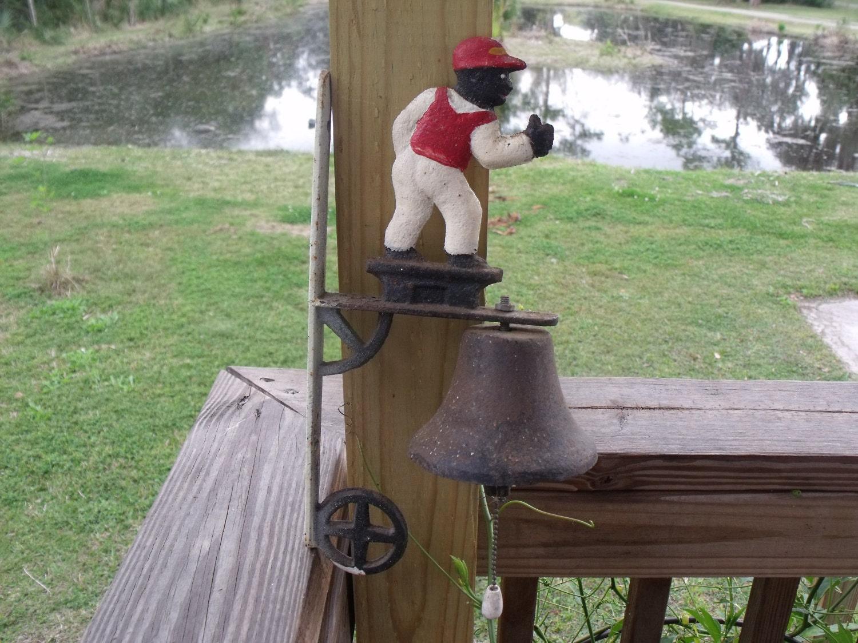Lawn Jockey Bell Vintage Cast Iron Wall Mount By Ktsattic