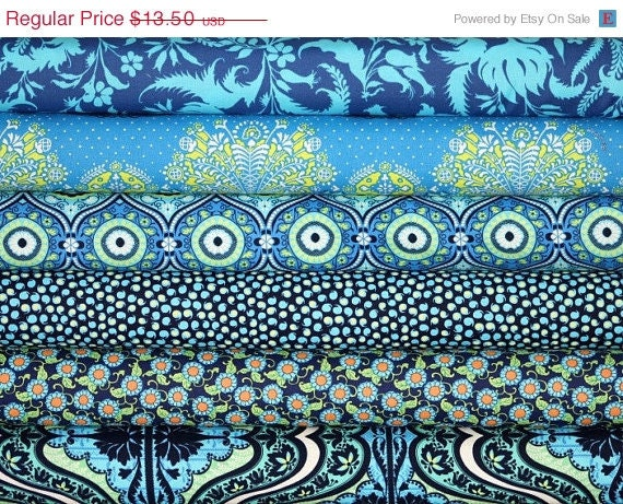 Entire Shop ON SALE LARK, Amy Butler, Westminster Fabrics, 6 Fat Quarter Fabric Bundle