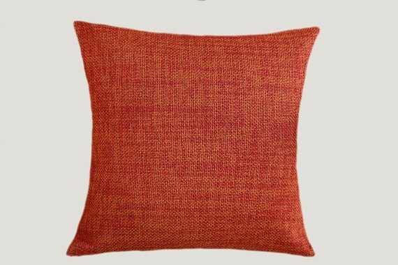 Red Orange color decorative Texture fabric Throw by svetastyle