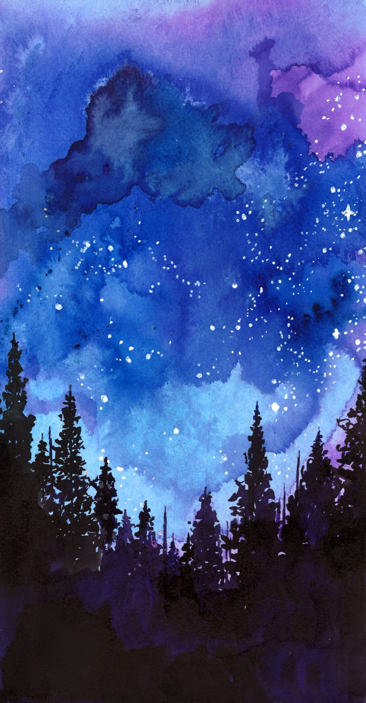 Как нарисовать звёздное небо поэтапно