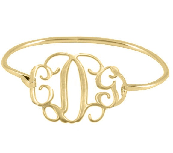 personalized gold monogram bracelet sterling by