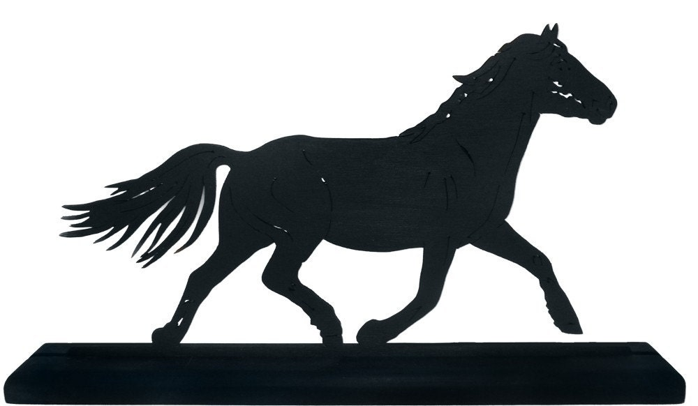 Trotting Horse Silhouette Trotting horse decorative