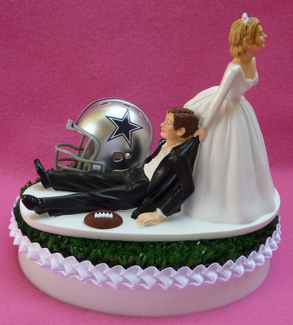 Wedding Cake Topper Dallas Cowboys Football Themed By Wedset
