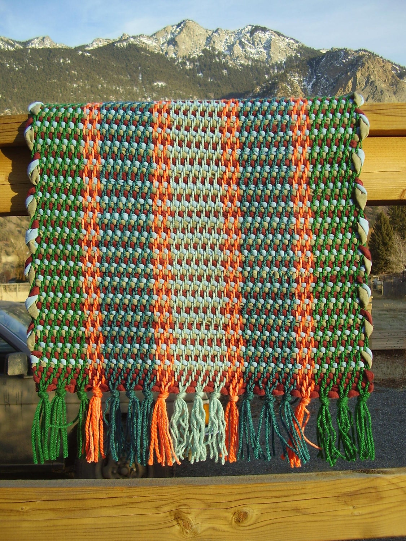 Items Similar To Handwoven Rag Rug Twill Weave Acrylic