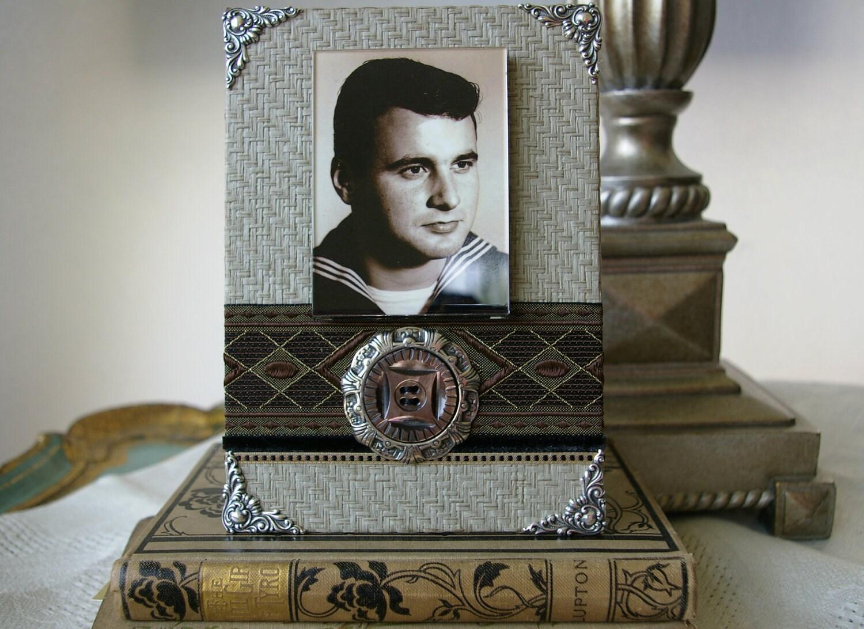 Папа, Град, фоторамки, декоративные рамки, Для Него, коричневый черный серый, фоторамки ручной работы для вашей картины