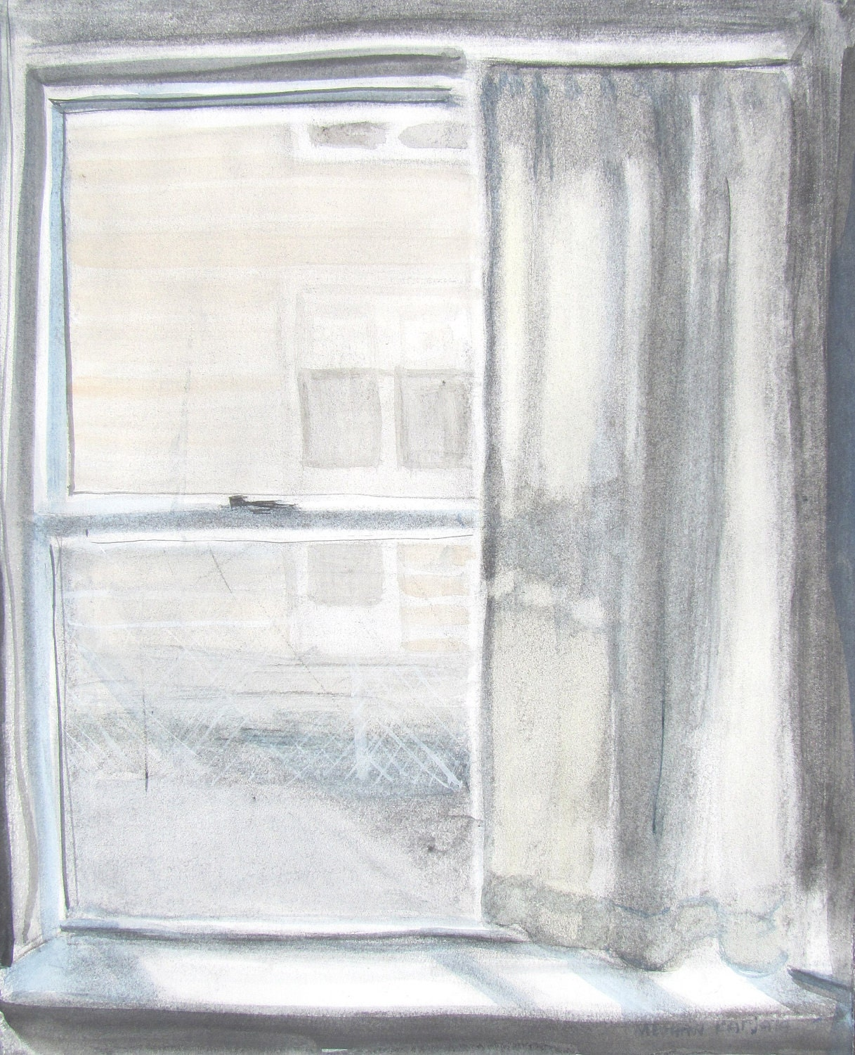 Sunny Window 1, original watercolor painting - ArtGoods