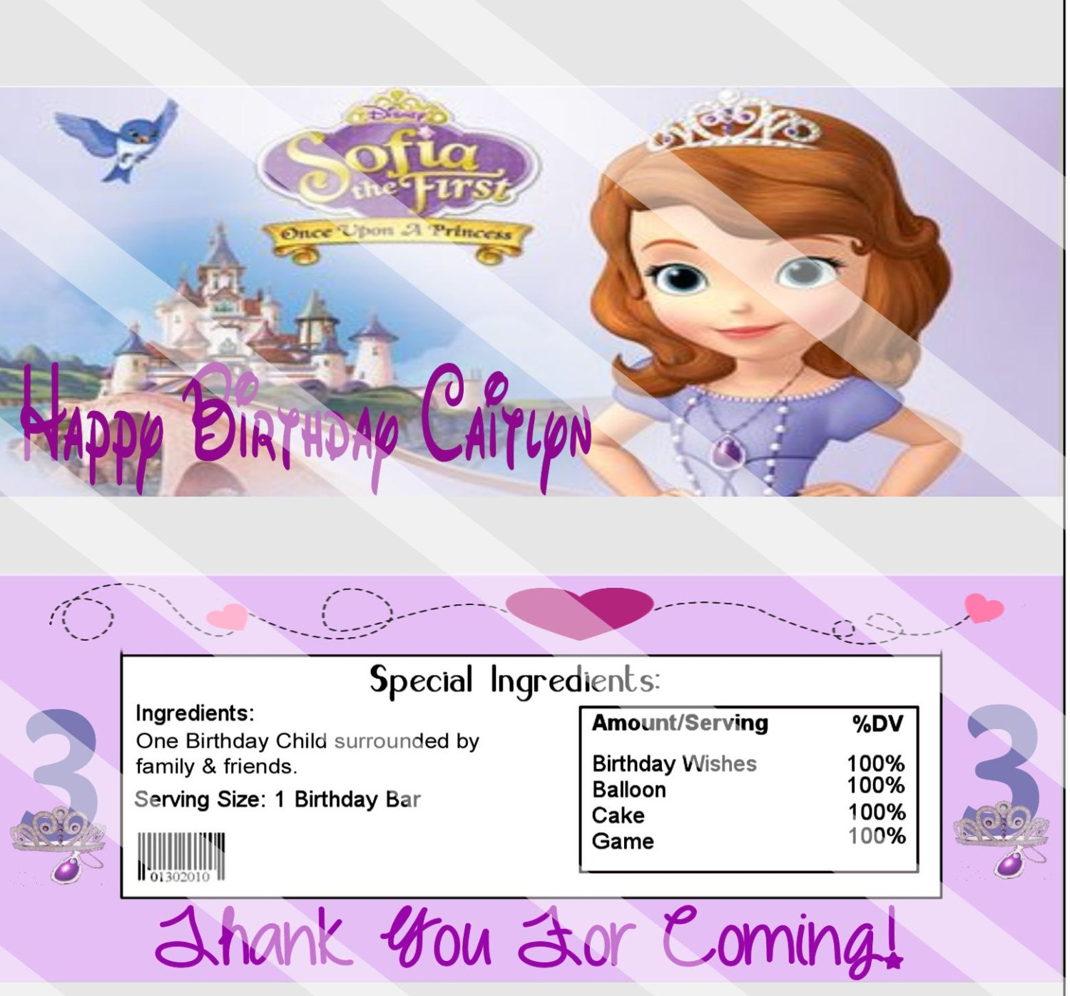 Princess Sofia Birthday Party