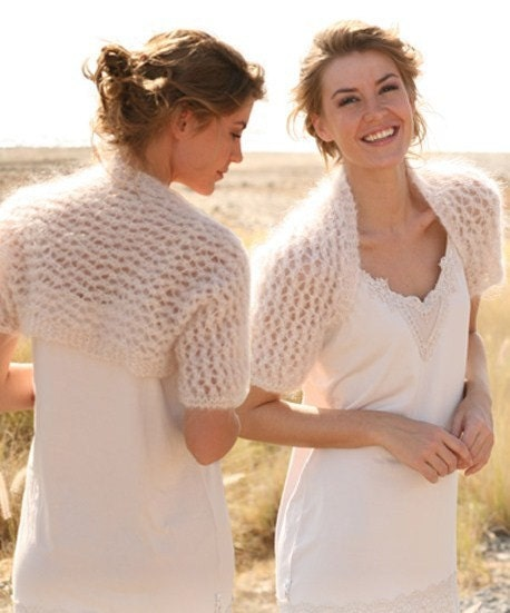 Knitting Pattern For Bolero Shrug : Hand Knit Wedding Bolero Shrug Lace Pattern Great by tvkstyle