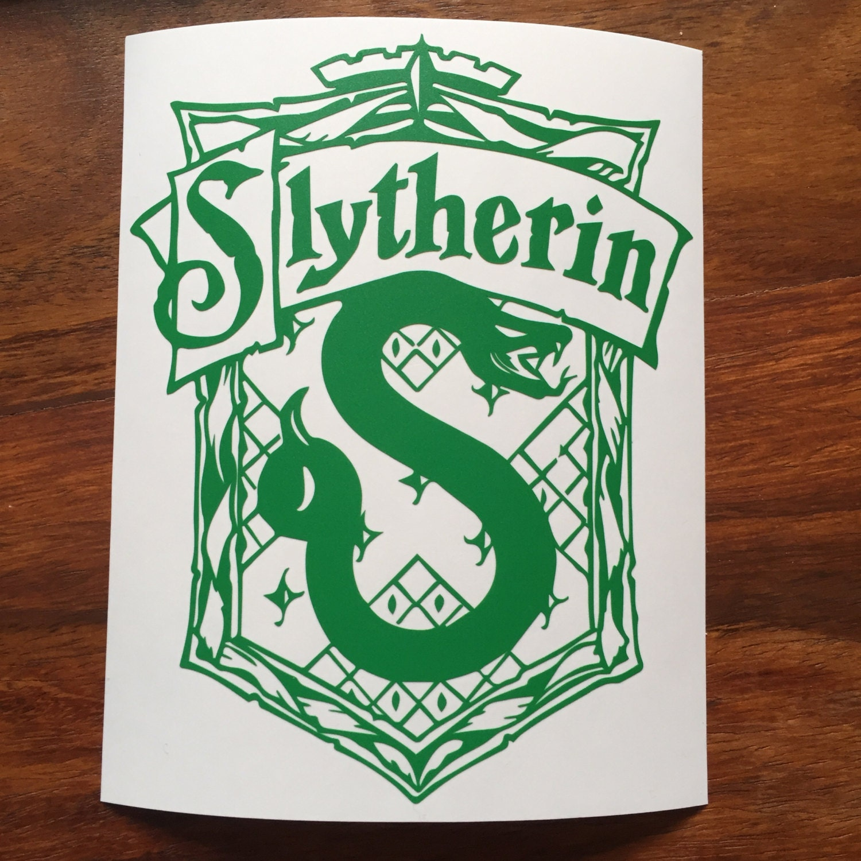 Slytherin Crest Inspired Sticker Harry Potter Inspired Decal Hogwarts Inspired Laptop Sticker HP Tablet Sticker Gift For HP Fan