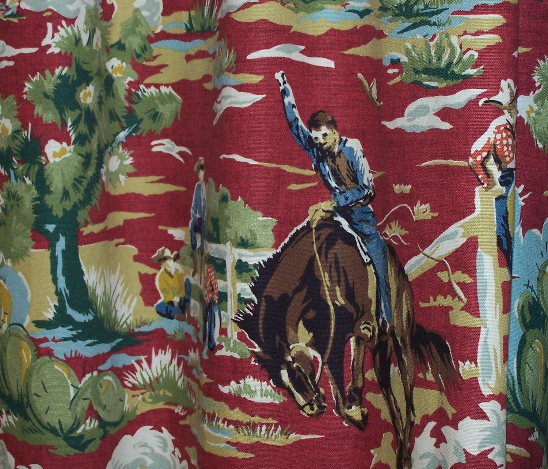 Cowboy Buck A Roo Shower Curtain by PeeledBananasToGo on Etsy