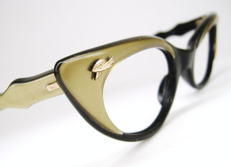 vintage womens 50s cateye eyeglasses frame by