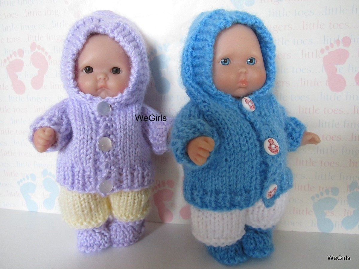 Free Dolls Knitting Patterns To Download : Knit Pattern Download Winter Hoodie Set for 5 inch by WeGirls