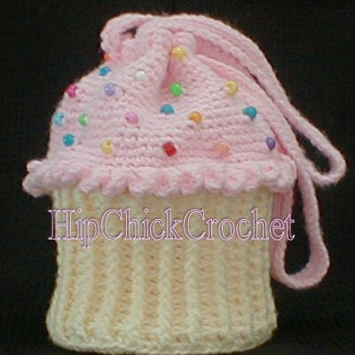 honeyscrap: Crochet Cupcake Purse
