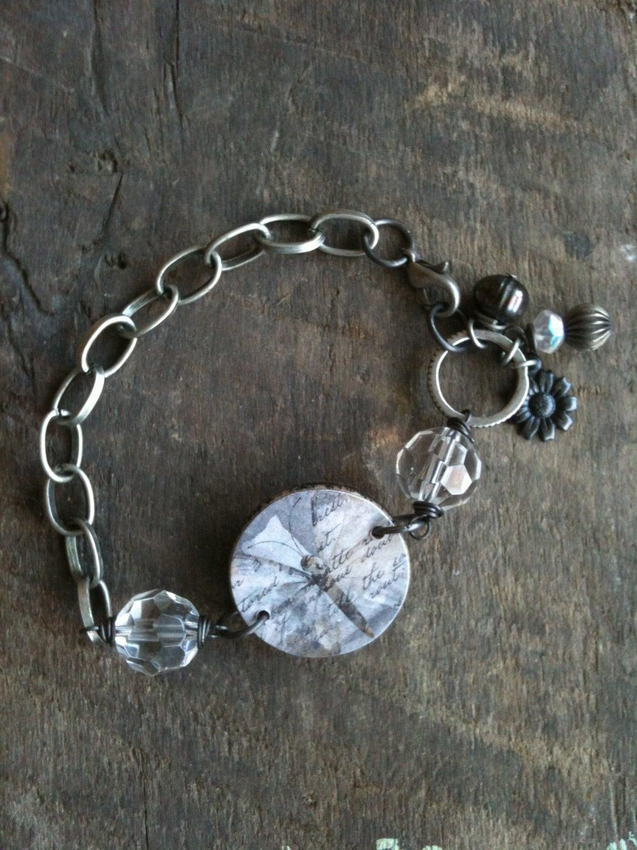 Butterfly Ephemera Tile Bracelet