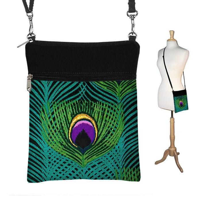 crossbody peacock bag