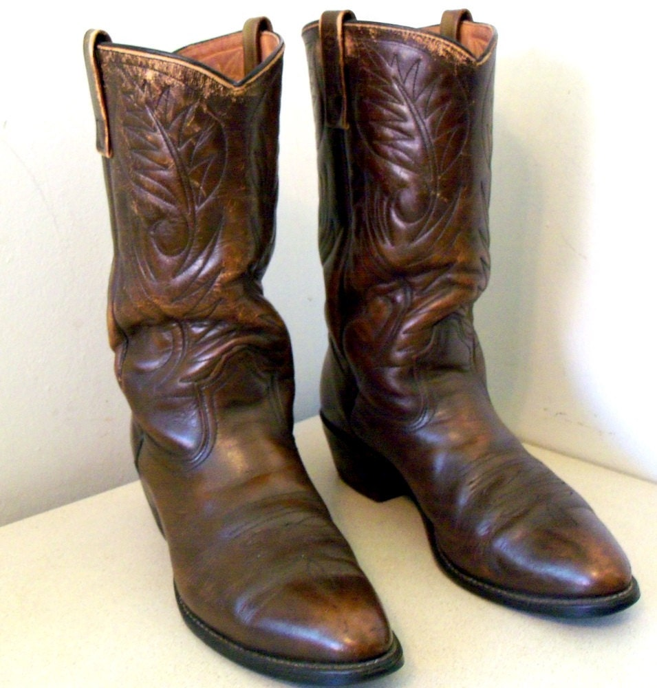 vintage wing shoes pecos cowboy boots by