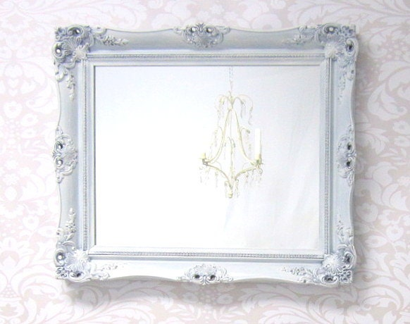 Shabby chic mirrors for sale baroque framed by revivedvintage for White framed mirrors for sale