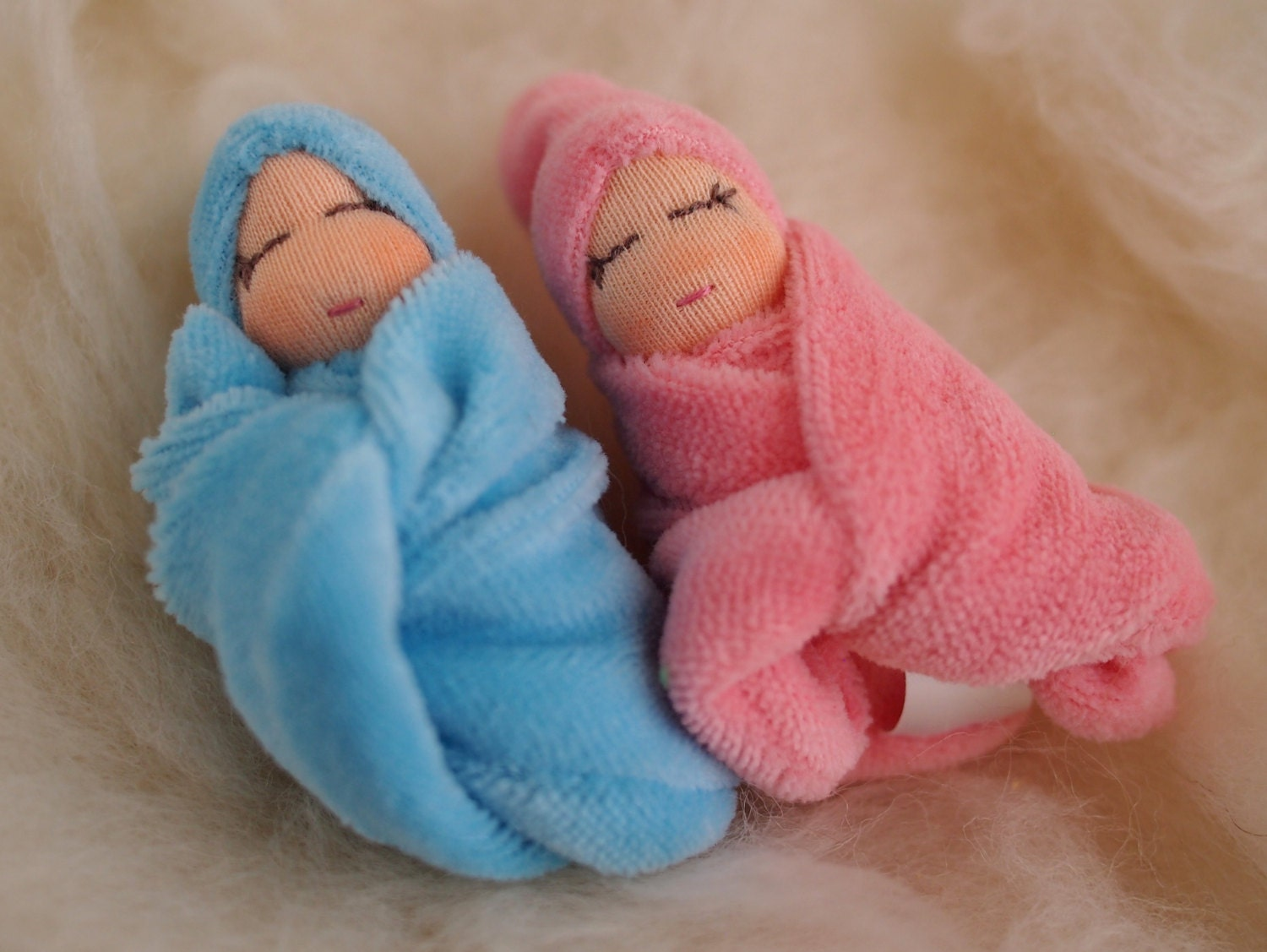 Gift for twins baby shower gift girl and boy doll new baby twins Waldorf baby doll tiny baby doll twin dolls Steiner doll