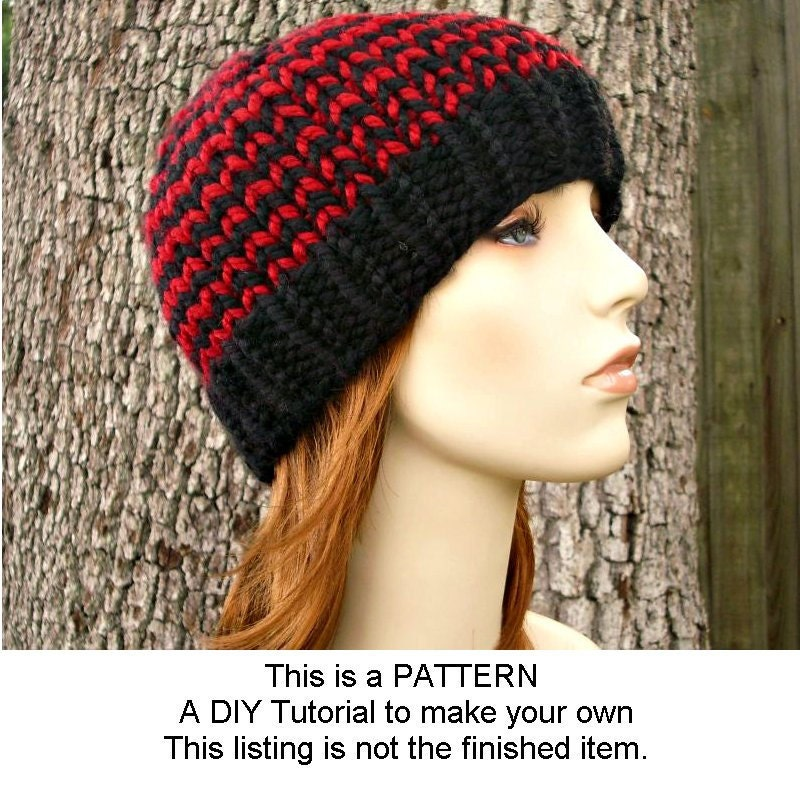 Pattern - Knit Hat Knitting Pattern - Knit Hat Pattern for The Toque