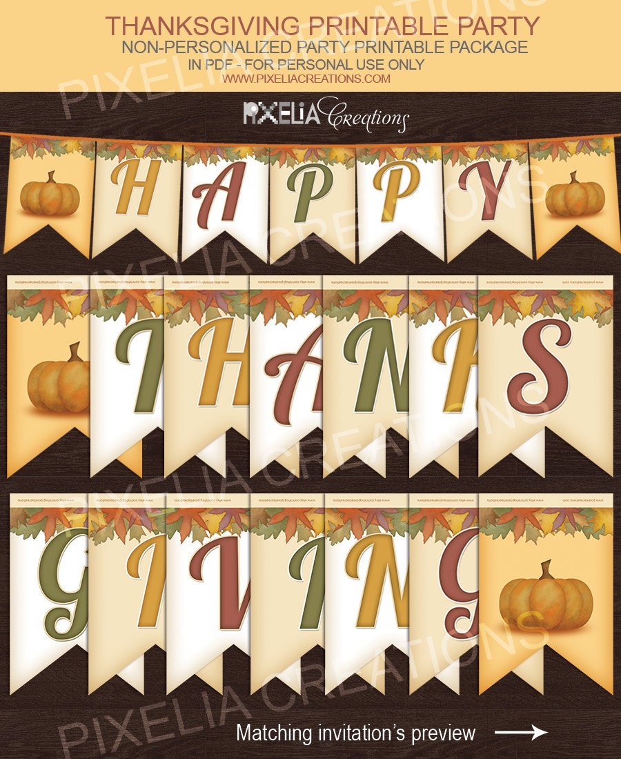 Impeccable image for happy thanksgiving banner printable