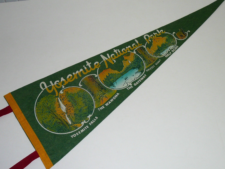 VINTAGE FELT BANNER PENNANT FLAG BROWN