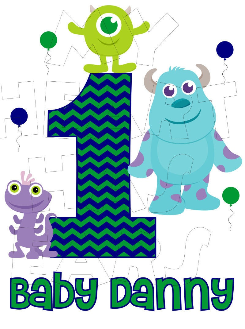 Printable DIY Mike Wazowski Sully Baby Monsters University ... Monsters University Baby Sully