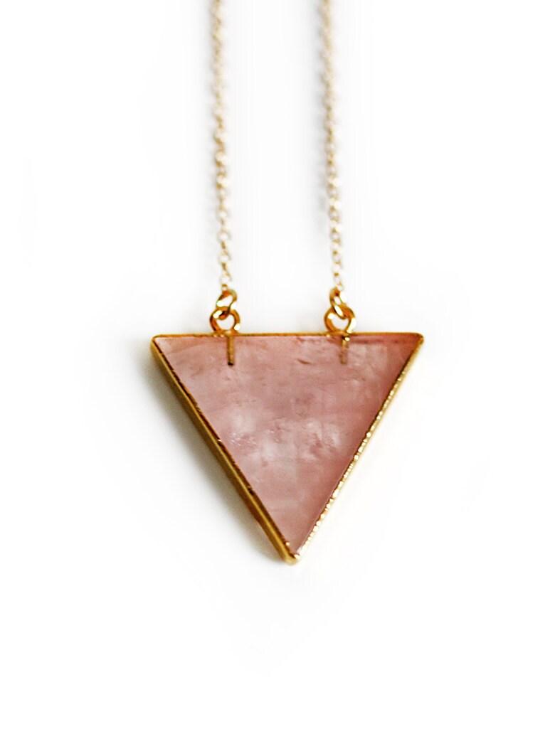 BERMUDA necklace - rose quartz - keijewelry