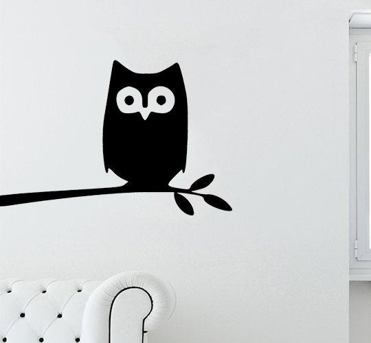 Apple Animal Sticker Black Owl Palm Rest Decal Pc Tablet Fridge Wall Macbook Keyboard T31
