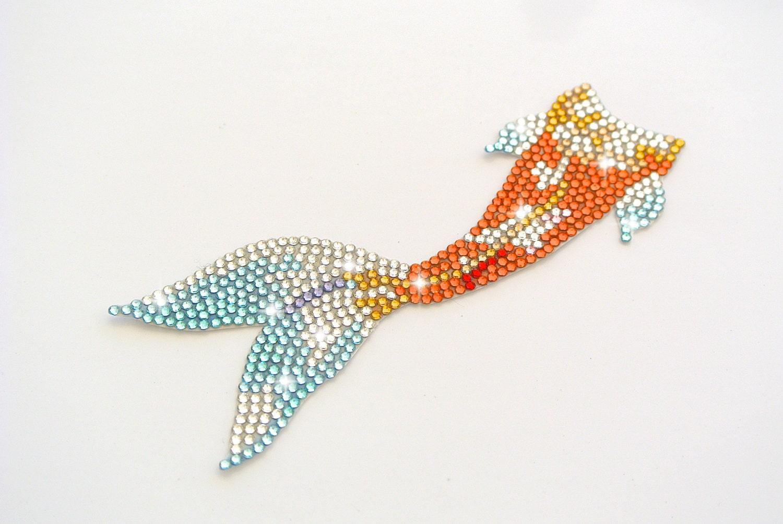 Items similar to handmade swarovski elements koi fish tail for Koi fish tail