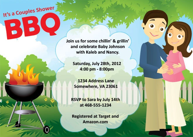 Baby Shower Invitations: Baby Shower Invitation Wording Bbq