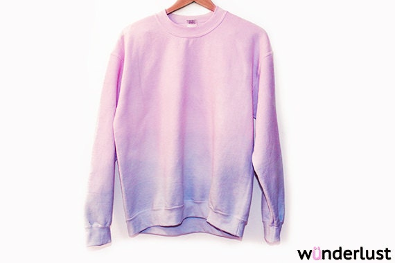 The Leah Sweatshirt (Oversized Pastel Ombre Dip Dye Sweater) - Shopwunderlust