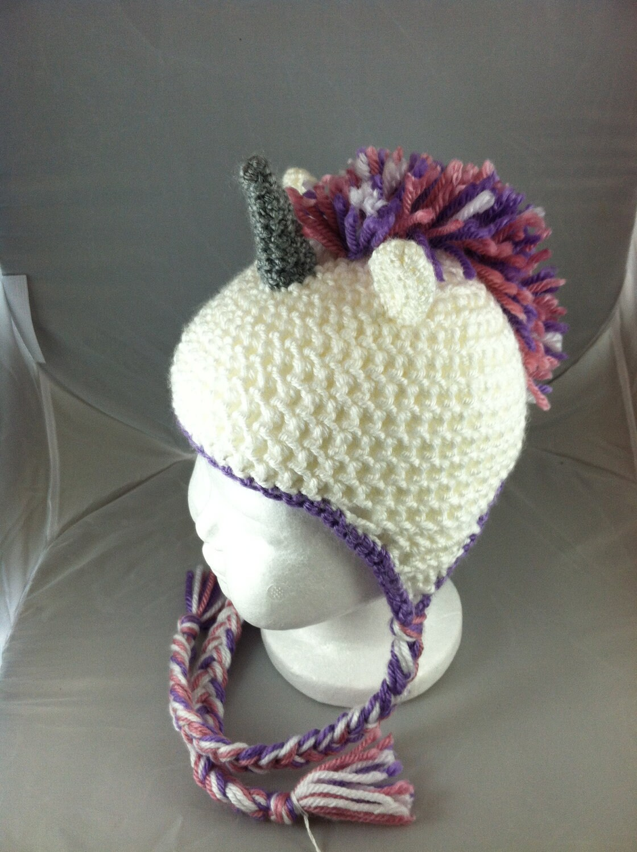 Crochet Baby Unicorn Mohawk Hat by NerdStitch on Etsy