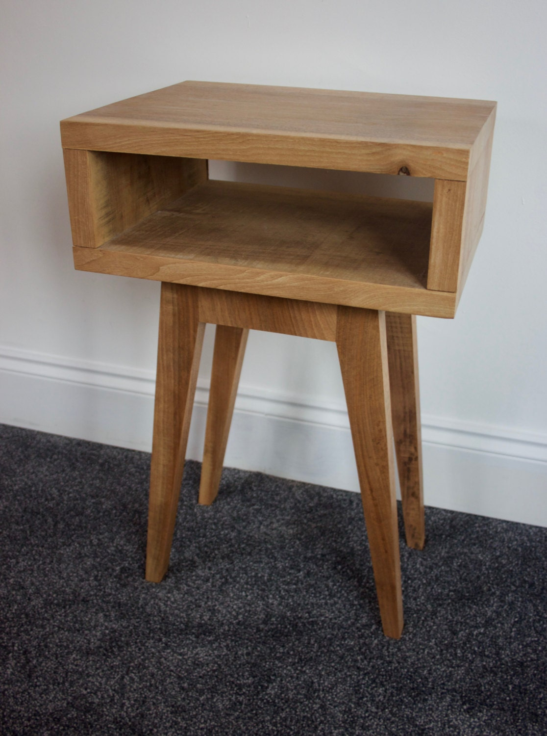 Bedside table Night Stand Side Table in reclaimed ash