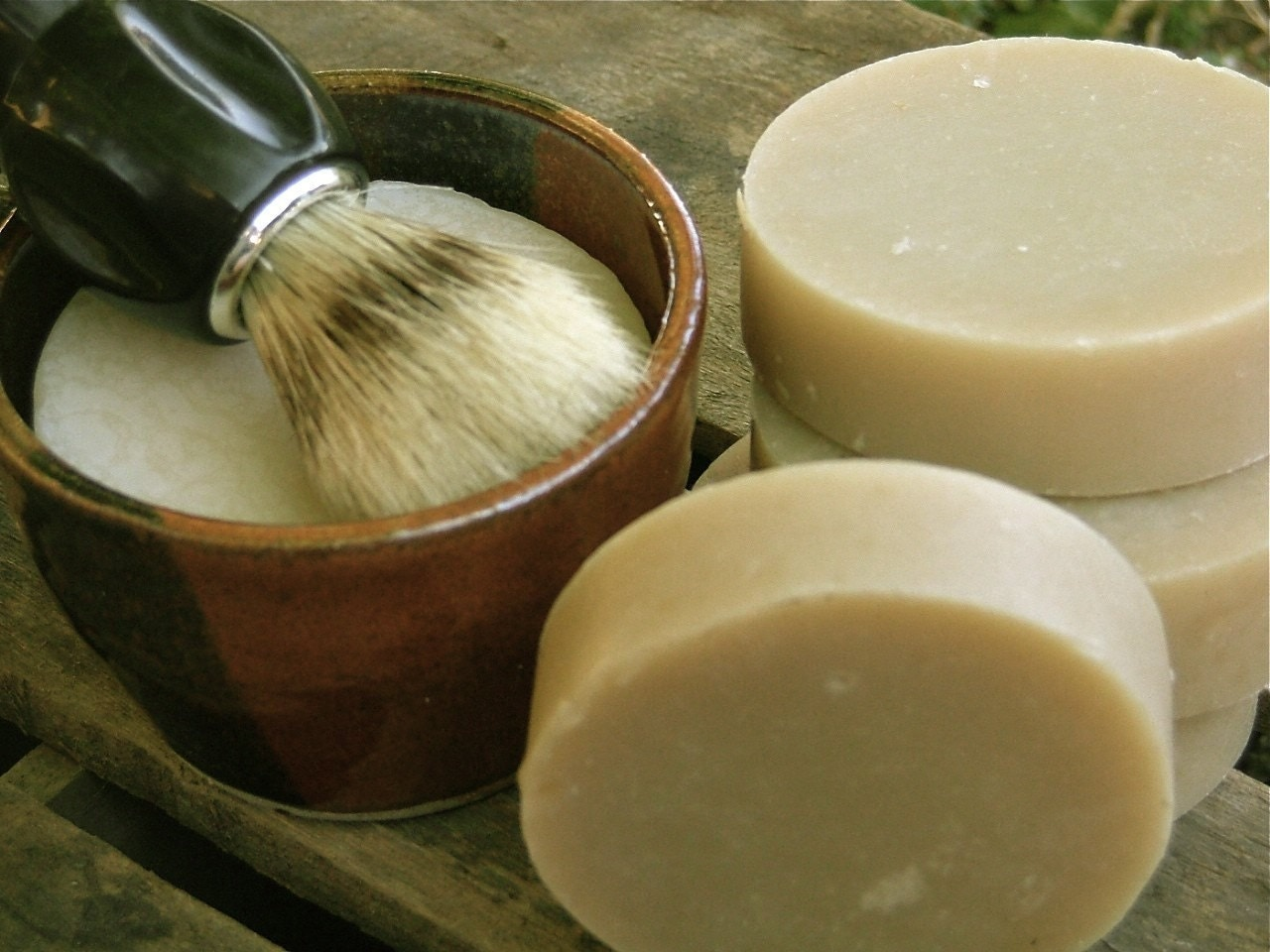 Handmade Beer Shaving Soap Bay Rum and Lime