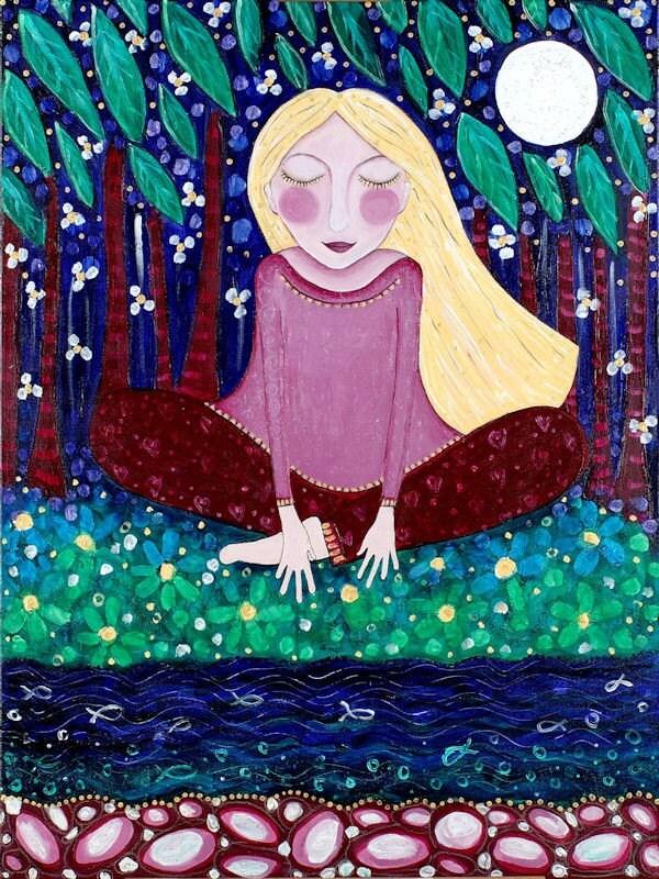 Blonde Girl Meditating