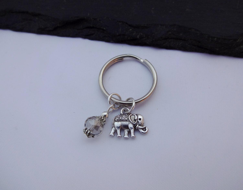 Elephant Keyring Charm Keyring Elephant Keychain Elephant Gift Gift For Her Elephant Charm Keyring