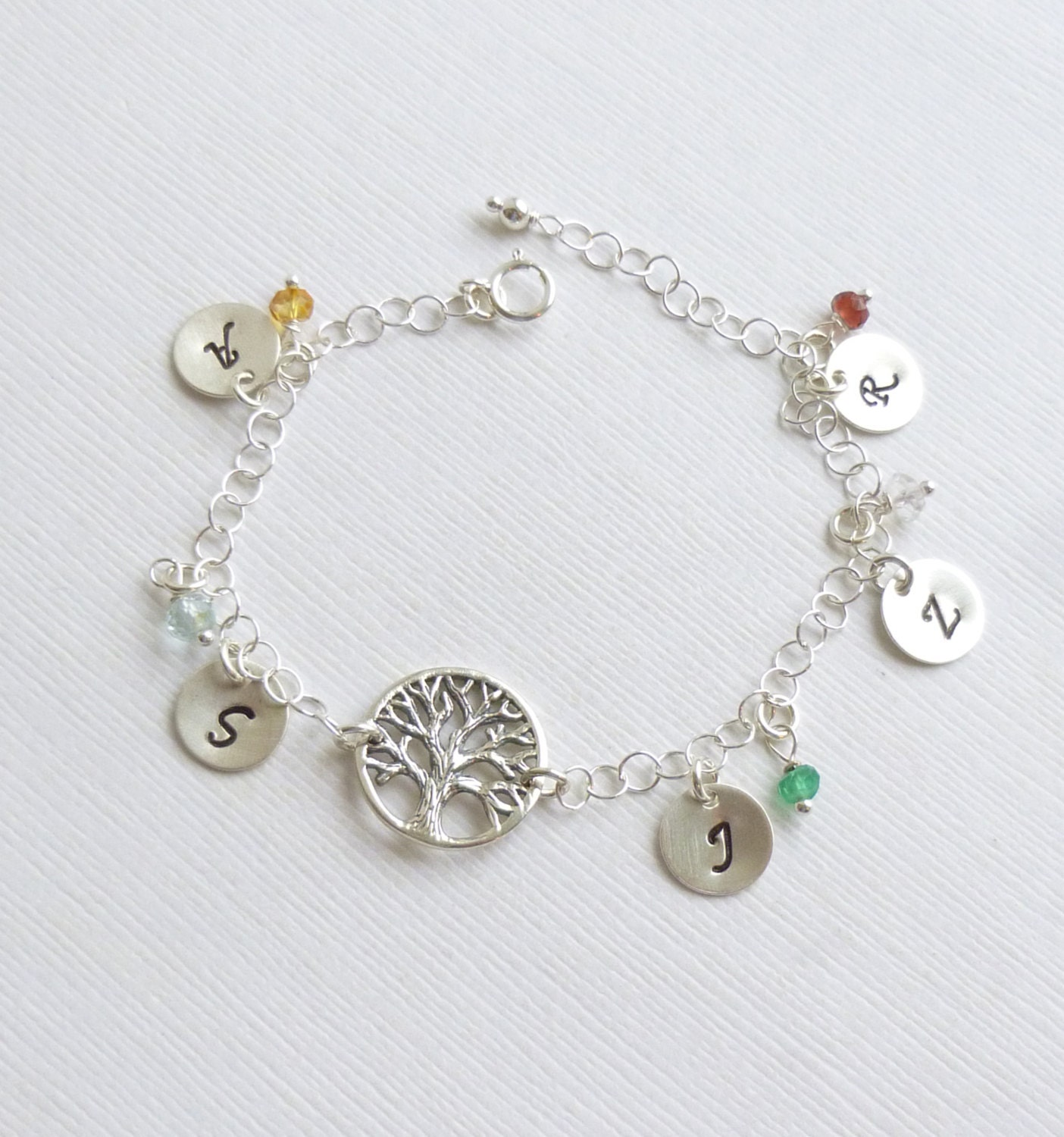 items similar to sterling silver family tree bracelet with