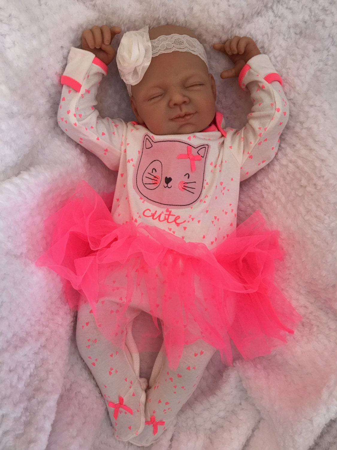 Reborn baby doll girl Amber big newborn 22 size rooted eyelashes bebe real realistic my fake baby childrens cheap doll