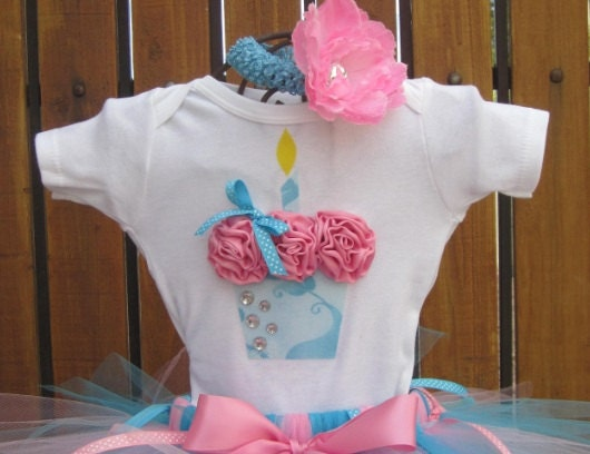 BABY GIRL - 3D Cupcake Onesie or T-Shirt Only - You pick size