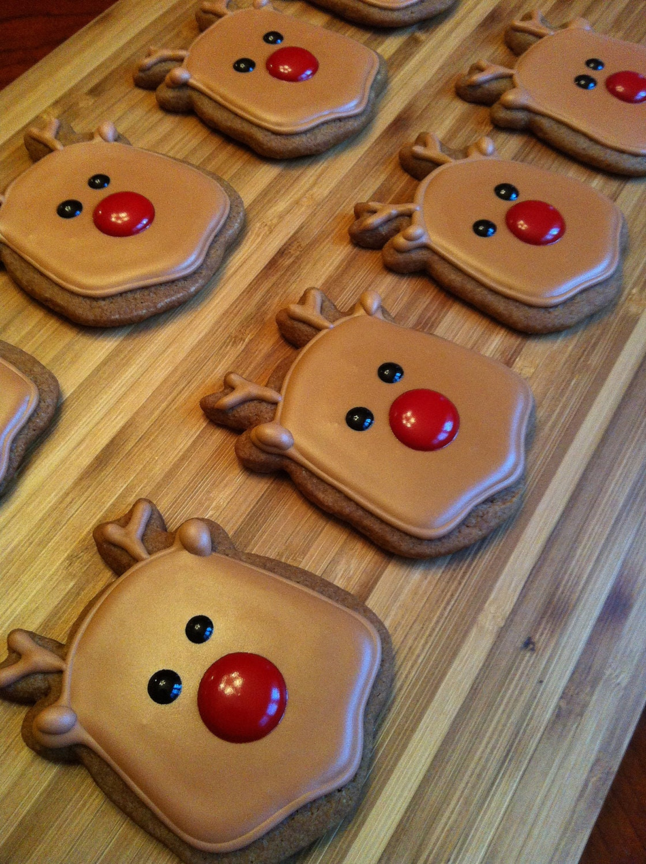 Reindeer Christmas cookies - Heidissweetshoppe
