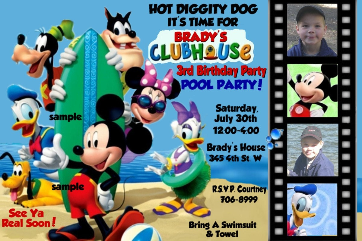 Mickey Mouse Clubhouse Birthday Party Invitations absolutely amazing ideas for your invitation example