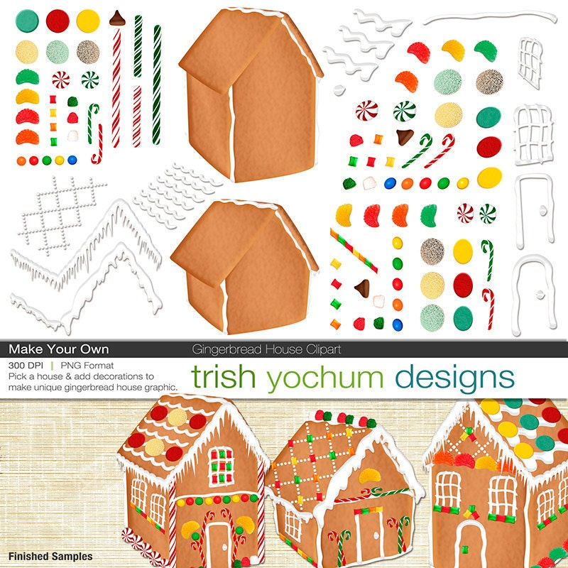 Gingerbread House Clipart Gingerbread By Trishyochumdesigns