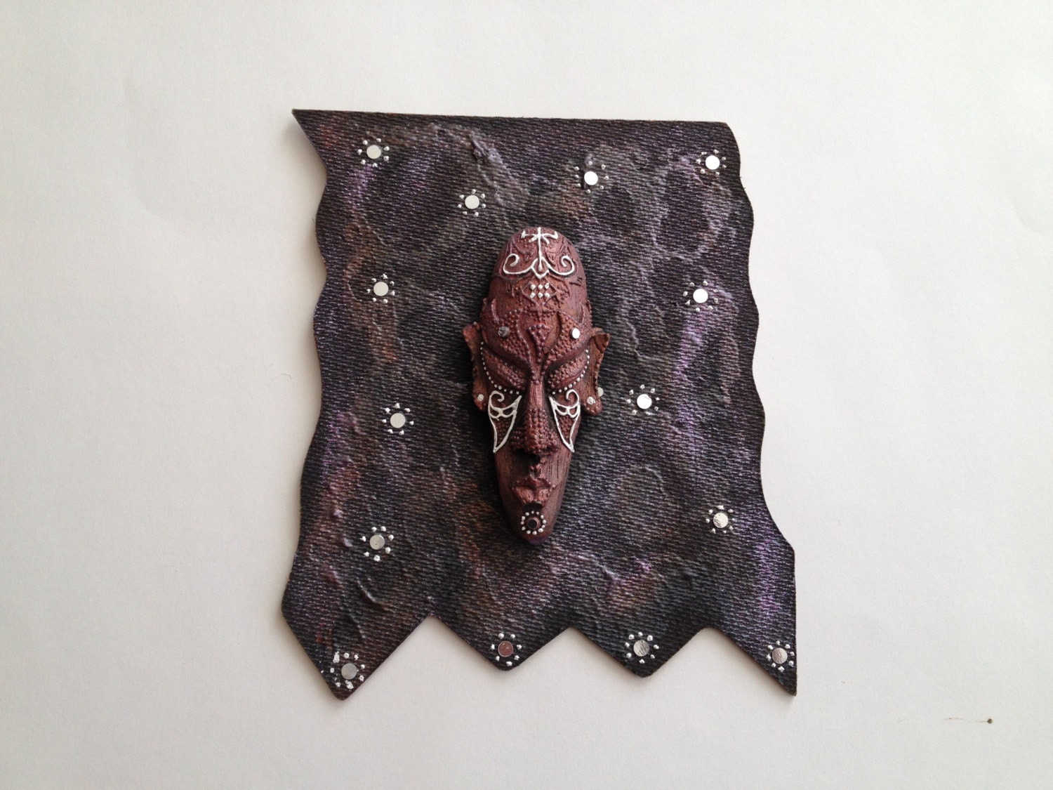 Multi media Mask- 3d Mask- decorated with acrylic paints