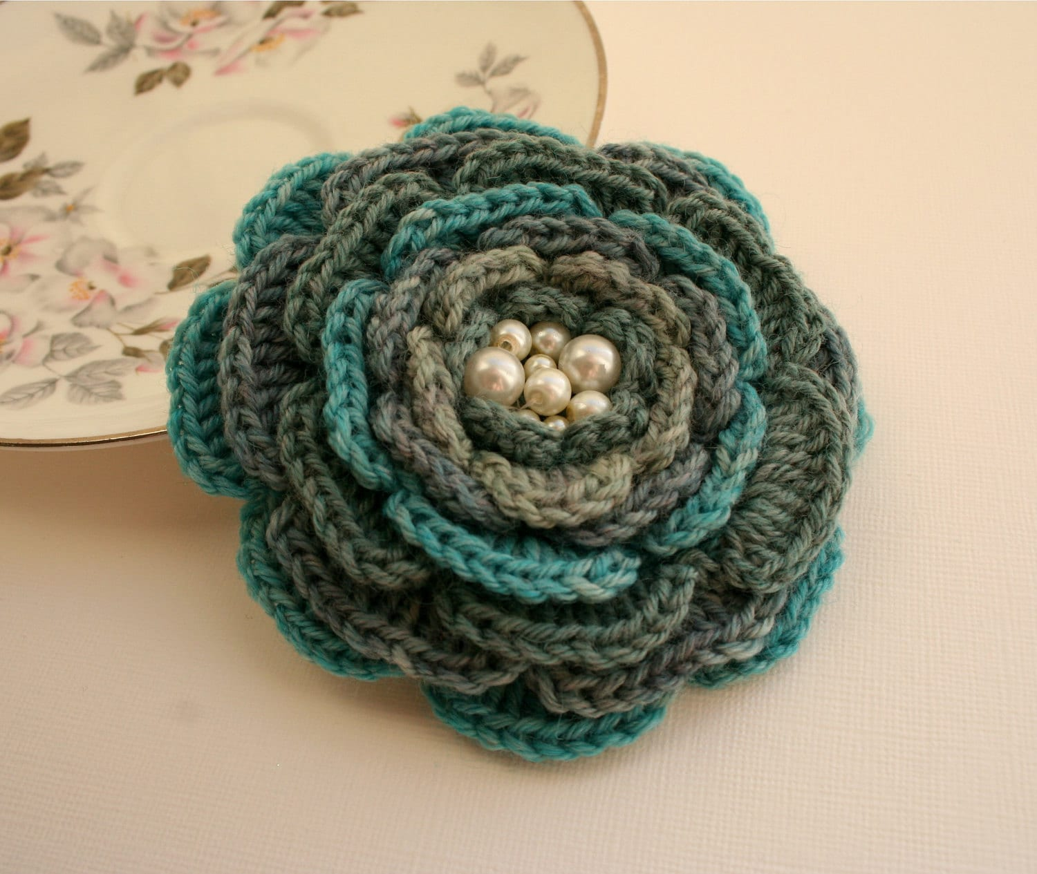Crochet Flower Brooch Pattern Free : Unavailable Listing on Etsy