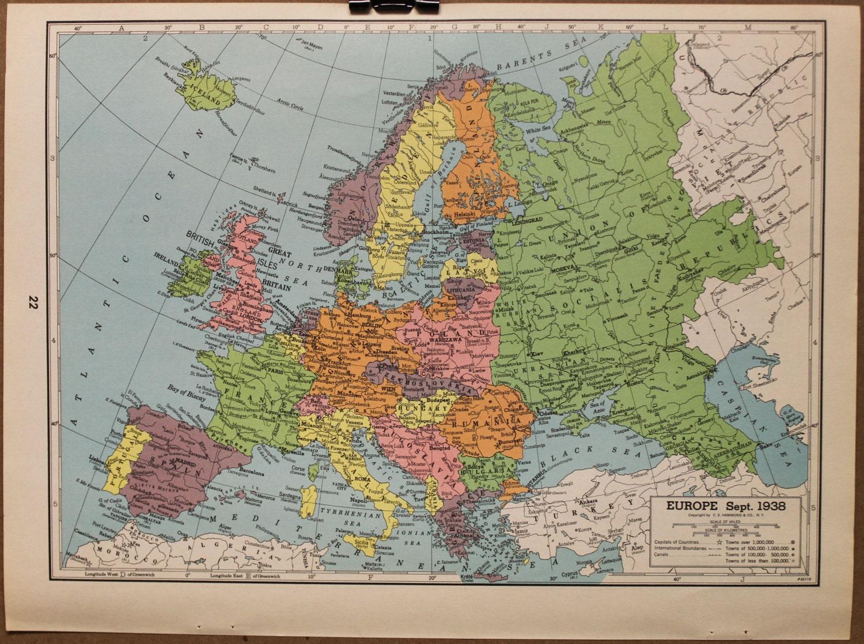 Pin 1938 Europe Map Wwwjewishvirtuallibraryorg on Pinterest