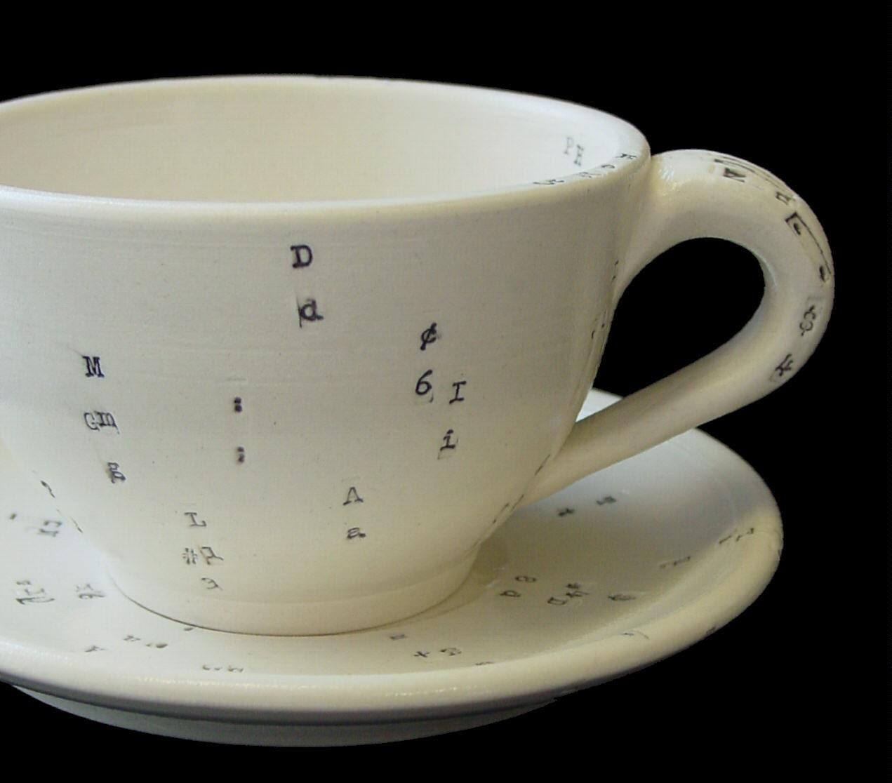 typewriter cup