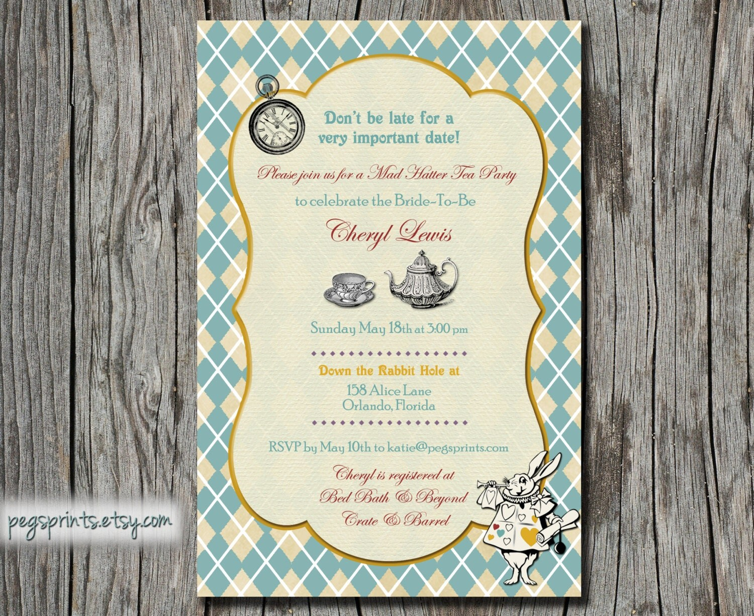 mad hatter tea party invitation mad hatter birthday by