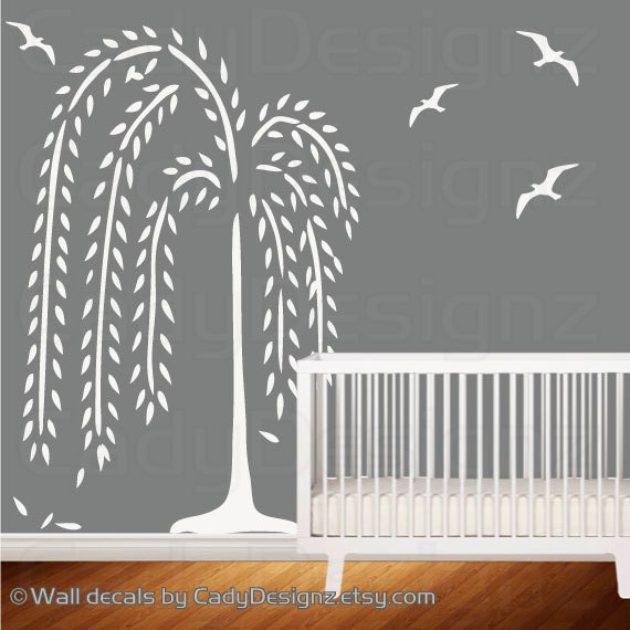 Weeping Willow Tree Decal Nursery Decor By Studio378decals Home Decorators Catalog Best Ideas of Home Decor and Design [homedecoratorscatalog.us]
